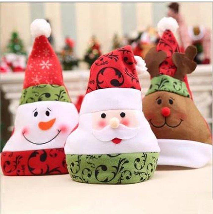 【洋洋小品可愛聖誕帽 聖誕老人 雪人XH2】中壢平鎮聖誕節聖誕樹聖誕飾品聖誕襪聖誕帽聖誕燈聖誕金球聖誕服聖誕蝴蝶結聖誕花