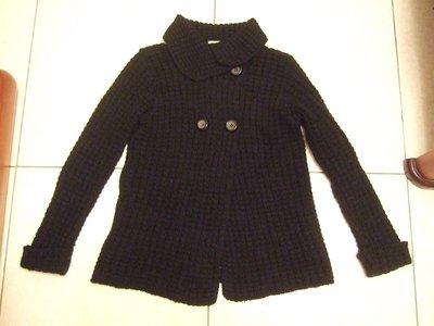 ZARA  黑色  毛衣  外套