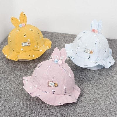 Baby hats spring and autumn 3-6 months baby girl thin lovel 可開發票 台北市