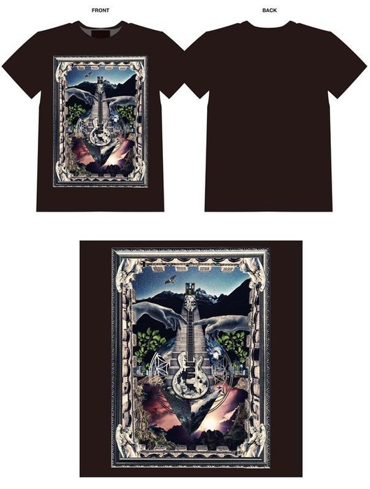 SUGIZO X Japan 15-16 Tour 週邊 畫像吉他Tee