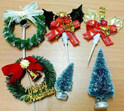 聖誕  插片 插牌 裝飾 花圈 樹 葉...