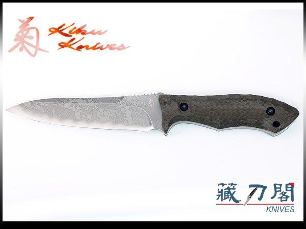 《藏刀閣》松田菊男-(KM-975)PATHFINDER-開拓者綠電木柄大獵直刀(OU31鋼)