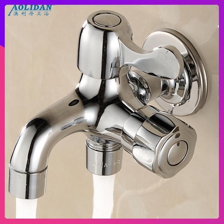 免運 水龍頭 全銅單冷水龍頭雙用多功能雙頭多用一進二出三通 KWYC1067