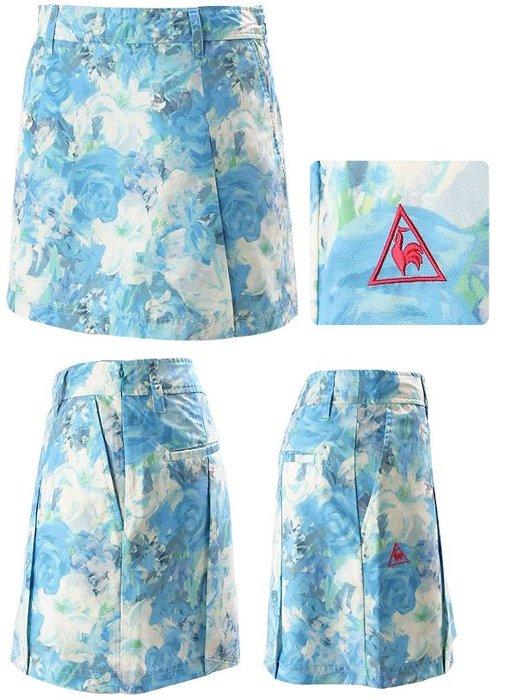藍鯨高爾夫 Le coq sportif 女款印花短裙(藍 ) #QLB88857-3511-9