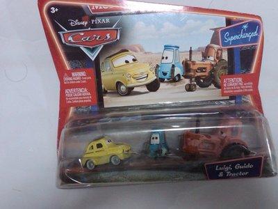 【Disney迪士尼系列】Disney PIXAR Cars汽車總動員-Luigi,Guido & Tractor