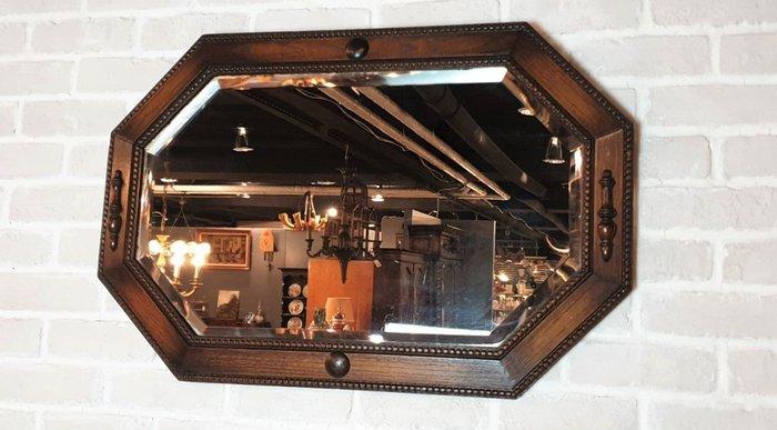 【卡卡頌  歐洲古董】英國老件~ 質感橡木雕刻 掛鏡(可橫或直掛) MI0069 ✬