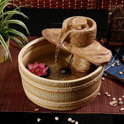 5Cgo【宅神】含稅會員有優惠 38724648703 流水噴泉加濕器創意家居裝飾品陶瓷擺件送結婚慶實用禮物喬遷禮品