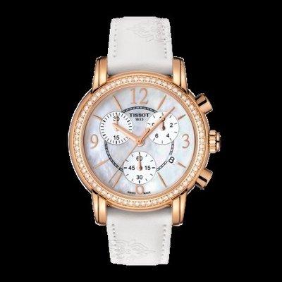 Tissot 天梭韻弛系列皮帶石英女腕錶 T0502176711701