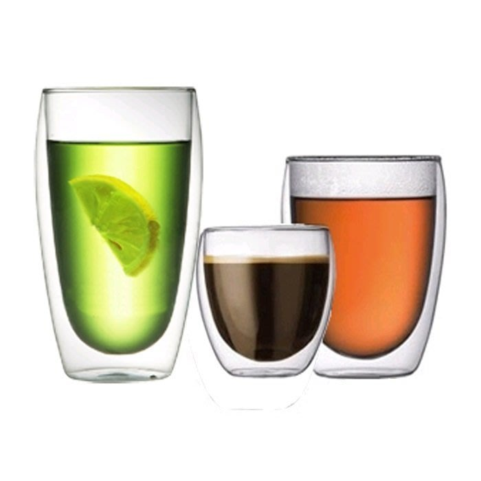 【奇滿來】透明雙層玻璃杯 隔熱杯 創意杯子 時尚 生活趣味 250ml 不帶蓋 AUAB
