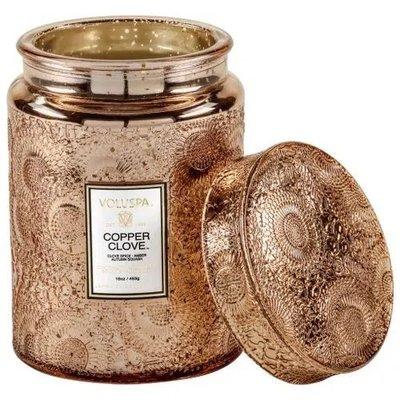 現貨~Voluspa Copper Clove銅丁香壓花玻璃蠟燭16oz