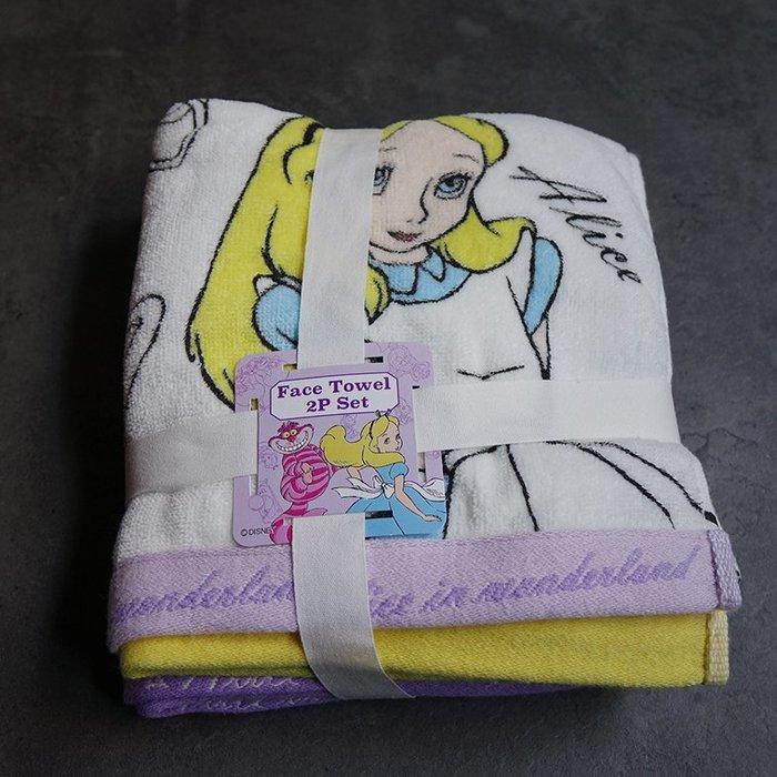 郭公館-日本迪士尼愛麗絲夢遊仙境純棉毛巾兩件組