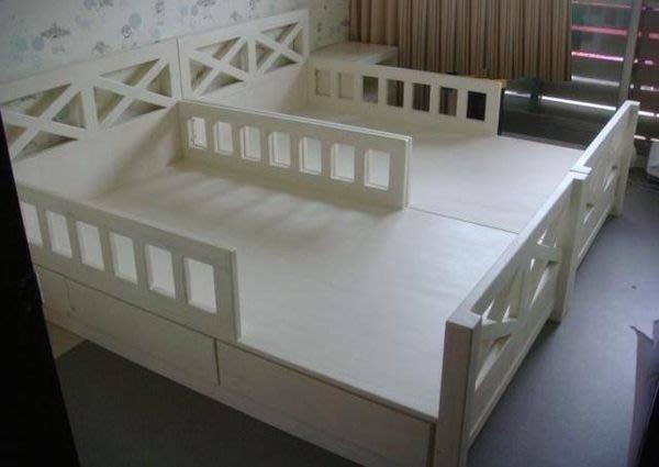原木工坊~ MIT台灣製造  原木家具首選  典雅白單人床組
