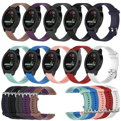 丁丁 佳明 Garmin Vivoactive 3 Vivomove HR 經典針扣純色官方紋矽膠錶帶 佩戴舒適替換腕帶