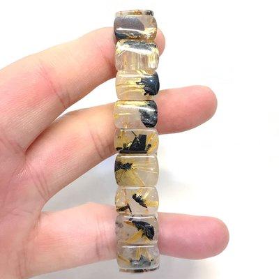 【收藏家】天然鈦晶手排 特價優惠中 招財神器 送禮自用兩相宜 15mm/47g Q6