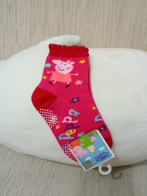 天使熊小鋪~粉紅豬小妹 寶寶短襪  大   全新現貨