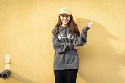 【A-KAY0】BELIEF 男女 IVY LEAGUE CREW 內裡刷毛 大學T 復古 黑【BLF18FWILBK】