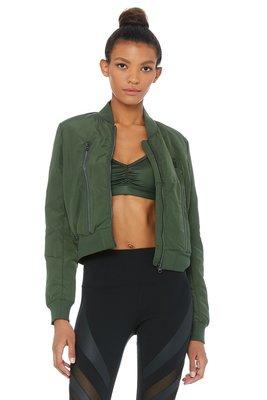 [安安美國精品批發零售]Alo yoga Off Duty Bomber Jacket2好萊塢時尚瑜珈品牌時尚羽絨外套