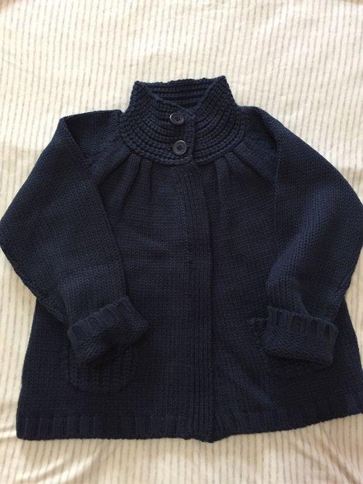 法國 LA REDOUTE 女童 深藍色 針織外套 6A