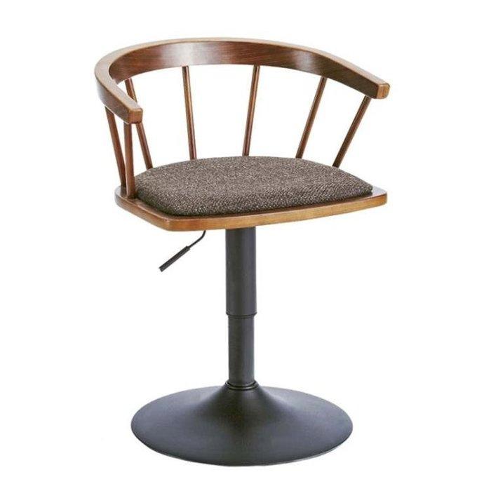 實木吧台椅時尚旋轉酒吧椅簡約矮款溫莎椅子家用升降餐椅