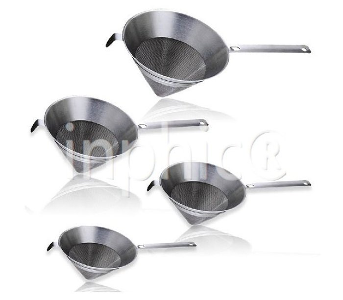 INPHIC-網狀優質不鏽鋼罩厘 漏斗型罩厘 帶手柄油漏 漏油勺 廚房工具 白