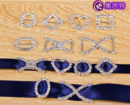 日字扣/心形鑽扣/diy飾品配件/蝴蝶结材料/集思特緞帶美學髮飾(1006-6)4