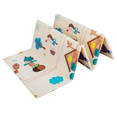 寶寶爬行墊加厚嬰兒爬爬墊客廳家用可折疊小孩拼接泡沫兒童地墊子-靚伴你我-可開發票