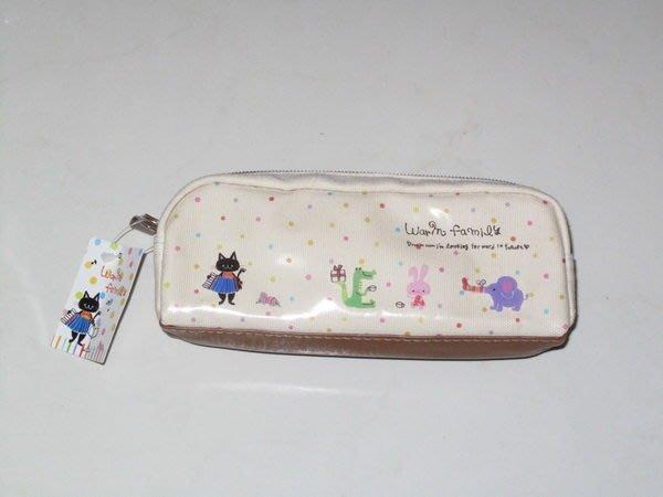 天使熊小鋪~日本帶回 Warm family老鼠與貓咪筆袋 鉛筆盒 收納袋~特價~
