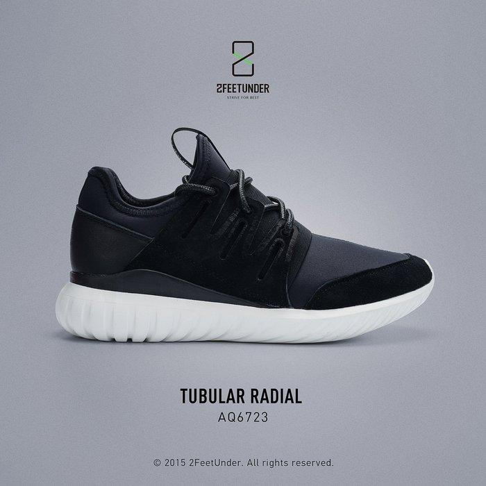 2FeetUnder - Adidas Tubular Radial 黑色 麂皮 AQ6723