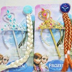 崴崴安兒童館--冰雪奇緣Frozen elsa頭飾安娜配飾髮飾皇冠假髮魔法棒權杖手杖 公主必備周邊