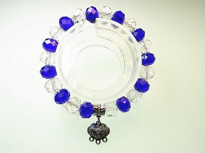 開運手鍊 日韓手環 項鍊~深藍水晶 白水晶 招財鎖麟囊 招財 愛情一起來手鍊  小確幸