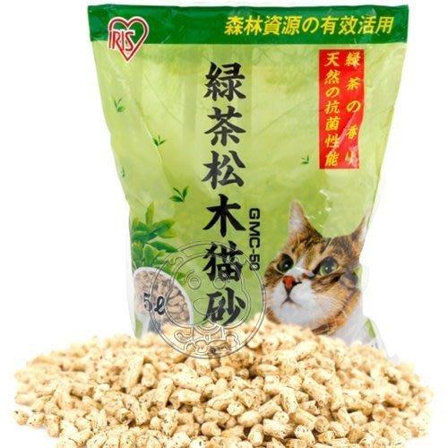 【🐱🐶培菓寵物48H出貨🐰🐹】日本IRIS》YGMC-50綠茶松木貓砂環保除菌防臭5L*1包 特價139元(蝦)