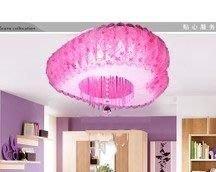 {美學}客廳燈LE吸頂燈臥室燈水晶燈LE節能燈圓形書房餐廳田園pvcMX-2101