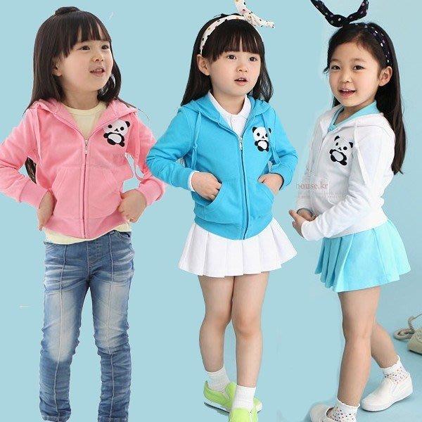 韓版《可愛小熊貓》連帽小外套 (L1-4)