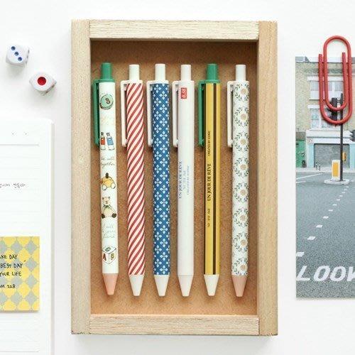 ❅PAVEE❅ 【現貨】韓國iconic~ Pattern Knock Pen v.2 寧靜生活 北歐風 按壓式原子筆