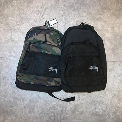 【FAITHFUL】STUSSY STOCK BACKPACK【133018】後背包 黑 迷彩