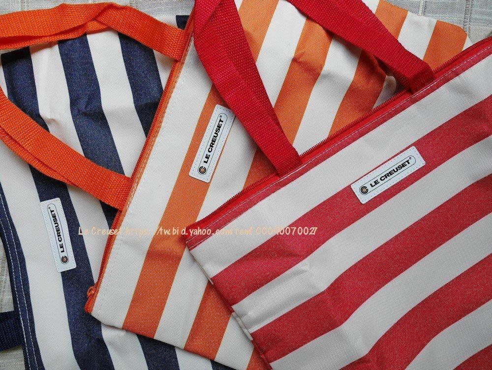 ⊶謎人優雅⊷《Le Creuset聯名》錫箔保溫保冷手提袋 野餐包 購買袋/紅橘深藍 交換禮物↷限時下殺優惠↷