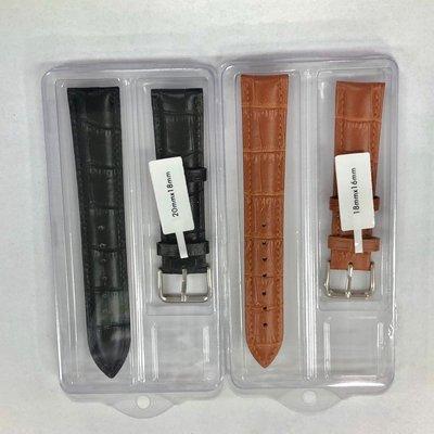 手錶配件-竹節紋真皮錶帶(18-24mm)皆有 黑/淺棕/深棕