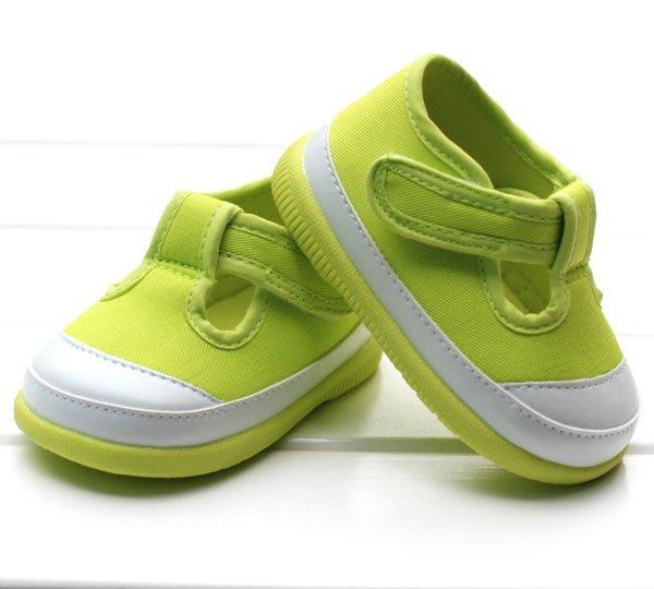 寶貝倉庫~膠底~綠色時尚休閒鞋~學步鞋~寶寶鞋~幼兒鞋~學走鞋~幼兒鞋~童鞋~彌月送禮~粘扣設計~適合戶外行走