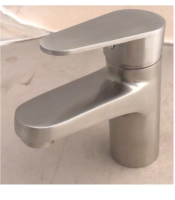 3315不鏽鋼面盆單孔水龍頭