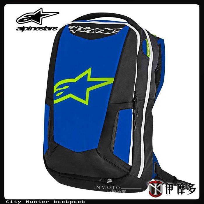 伊摩多※義大利 alpinestars CITY HUNTER 黑藍/四色 雙肩背包 後背包 可放安全帽 筆電