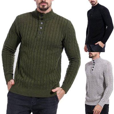 『潮范』 WS11 男士新款拼色圖案毛衣 打底衫 潮流撞色外貿鏤空高領套頭毛衣 線衫NRG2666