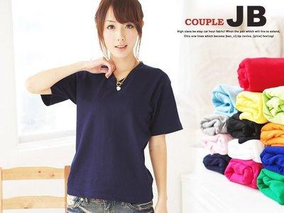 JB小妹專業衣廠【SJV03】優質高磅 V領素色短袖棉T 1vivi lenaz風 14色 特價 140元