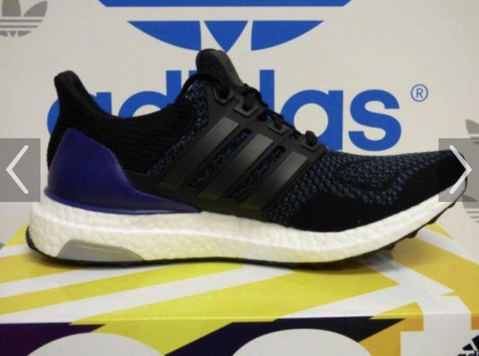 ADIDAS ultra boost w B27172 黑紫編織輕量慢跑鞋 us7.5