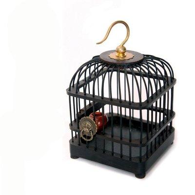 黑檀烏木方形蟈蟈籠手工鳴蟲爬蟲叫罐用具寵物籠送老年人兒童禮物