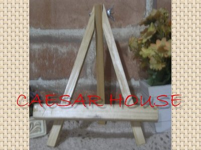 ╭☆凱薩小舖☆╮【鄉村 】原木色木質三角架 畫架 告示牌 展示架 書架 好幫手