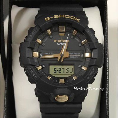 Montres Company香港註冊26年老店 卡西歐 200米防水 CASIO G-Shock 黑金色 超大錶徑 GA-810B-1A9 兩款色有現貨