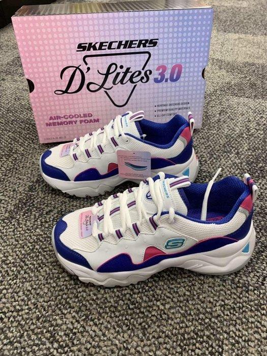安安保證正品~Sechers D Lites 3.0  代言人款 老爹鞋 女鞋 復古運動鞋 12955WBLP