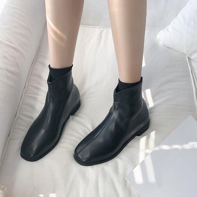SeyeS  時尚歐美百搭基本款二色短靴