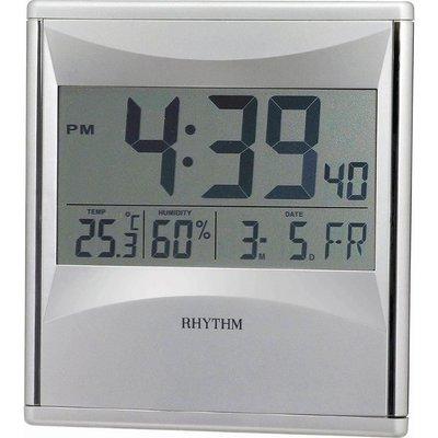 RHYTHM CLOCK 日本麗聲數位電子液晶式溫.濕度顯示掛鐘/ 座鐘/ 鬧鐘三用 型號:LCW011NR19【神梭鐘錶】 台北市
