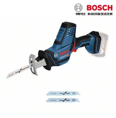 【含稅店】BOSCH博世 附刀片×3 GSA 18V-LI C 紙板箱  充電式 手持式軍刀鋸 切割機 切斷機 單機版